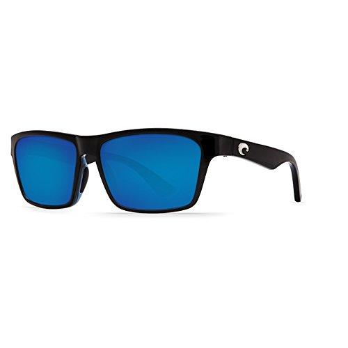 Costa Del Mar Hinano Sunglasses Shiny Black/Blue Mirror ()