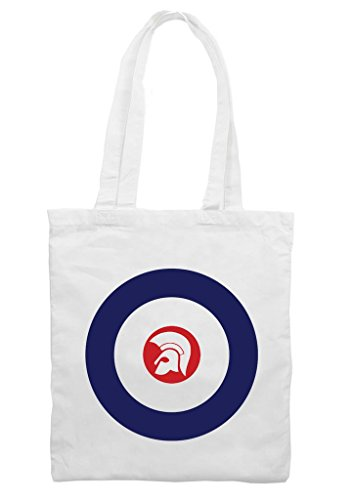 Tribal T-Shirts Mod Target Trojan Helmet Cotton Shoulder Shopping Bag (Target Beach Bag)
