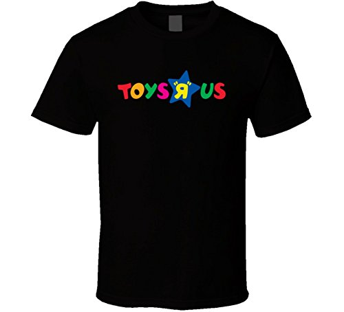 Toys R Us Retro Kids Store Logo Black T Shirt XL Black