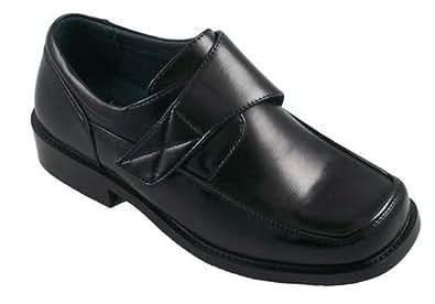 josmo boys dress shoes black leather