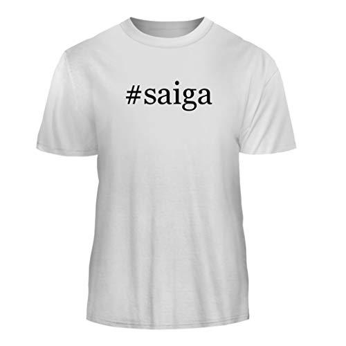 Tracy Gifts #Saiga - Hashtag Nice Men's Short Sleeve T-Shirt, White, X-Large
