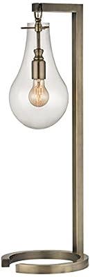 """Dimond Lighting 29"""" Metal Floor Lamp, Antique Brass"""