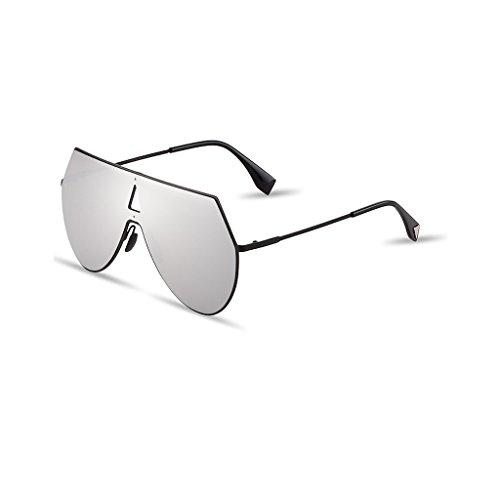 Una Coloridas Reflexivas De WANGXIAOLIN La Sol Sol Personalidad La De De De Plata Pieza Gafas Sol Para De La Gafas Hombres Plata Gafas Color ZwASI