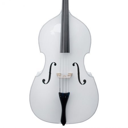 Cecilio CDB-W Size 3/4 White Upright Double Bass w/Adjustable Bridge by Cecilio