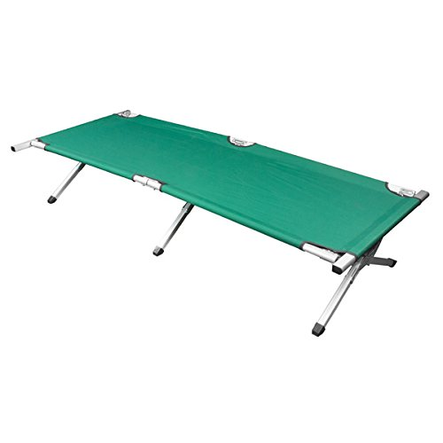 Deluxe Heavy-duty Military Folding Cot (500 pound capacity) Green