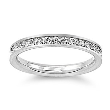 Sterling Silver Clear Crystal Eternity Toe Ring (3)