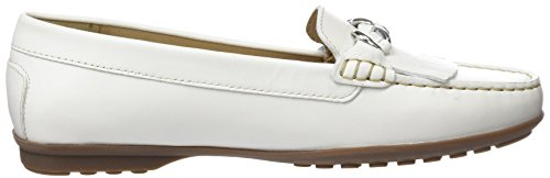 Femme A Mocassins Elidia Bleu Geox white loafers Blanc P4gvnxnwAq