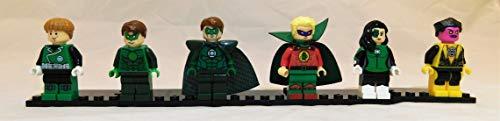 Green Lantern Set of 6 Mini Figures Silver Age Green Lantern up to Guy Gardner and Female Lantern, Sinestro -