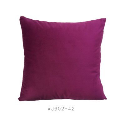 HOMEE Velvet Pillow Pillow Cushion Terry Square Pillow,Purple,50X50Cm by HOMEE