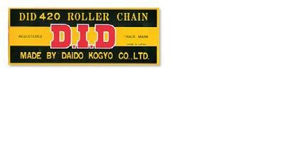 D.I.D 428 STD Standard Series Non O-Ring Chain 124 Links Natural D18-429-124