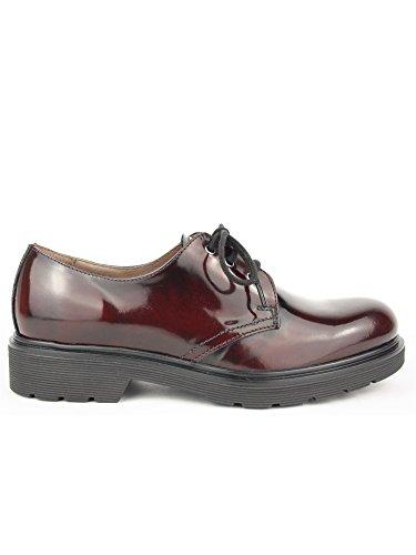 Nero Giardini - Zapatos de cordones para mujer Bordeaux