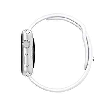 "Original Apple Watch 42mm (Fits 5.5"" - 8.2"" Wrists) - Silver Aluminum Case, White Sport Band Edition (Retail Packaging) 2"