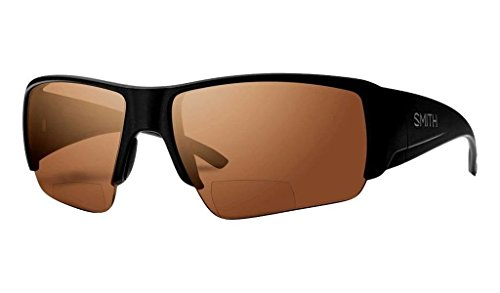 Smith Captains Choice Bifocal Polarized Sunglasses Matte Black/Copper Mirror 2.00, One Size - - Eyewear See Market Street