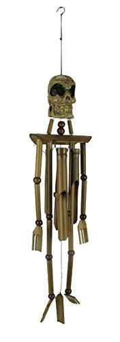 Voodoo Decorations Halloween (Skeleton Burnt Bamboo Windchime 39