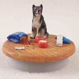 Conversation Concepts Miniature Alaskan Malamute Candle Topper Tiny One ''A Day at Home'' by Conversation Concepts