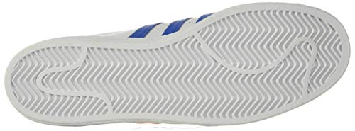 adidas Originals Men's Superstar Shoes Sneaker, White/Blue Orange/Gold Metallic, 10.5