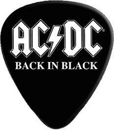 CD Visionary AC/DC Back In Black Logo Guitar Pick GP-0200 (Logo Guitar Dc)