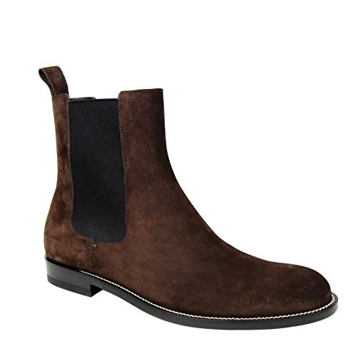 Gucci Men's Dark Brown Suede Chelsea Boot with Elastic Sides 256346 2145 (9.5 G / 10.5 US) ()