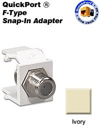 Leviton 41084-FIF F-Type QuickPort Snap-In Adapter - Ivory (Pkg of 10) ()