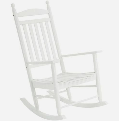Jack Post Knollwood Kn22-w Classic White Wood Front Porch Rocker Rocking Chair
