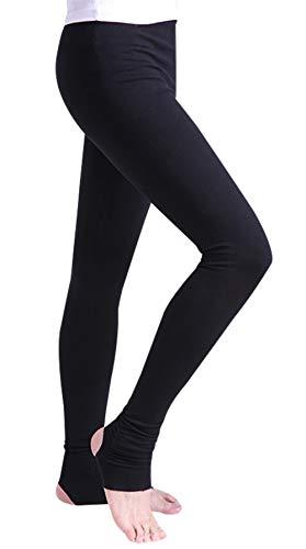 FEOYA Boys Ballet Pants Stirrup Stretchy Leggings Gymnastics Clothing Full Length Athletic Leggings Dancewear Black S -