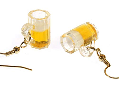 Style ARThouse Happy Hour, Pale Ale, Minature Beer Mugs with Goldtone French Wires