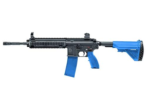 T4E HK416 Carbine .43 caliber 11mm H&K Paintball Assault Rifle Black Blue Mag Fed Police Law Enforcement Trainer