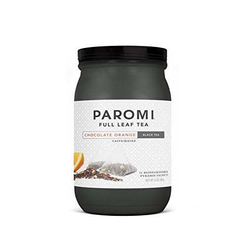 Paromi Tea Chocolate Orange Black Tea, 15 Bags, Black Tea with Cocoa Bits, Orange Peels and Spices, Delicious Hot or Iced, Great for Infusing Recipes with Tea Flavor
