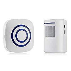 Wireless Doorbell,Operating at Over 500-feet Range with Over 30 Chimes, No Batteries Required for Receiver Sensor Alarm Wireless Driveway Alert Home Doorbell Security System (As Shown)