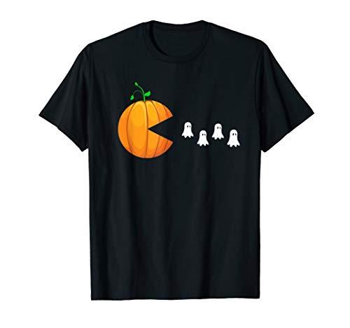 funny halloween gift t shirt Pumpkin Eating Ghost tee -