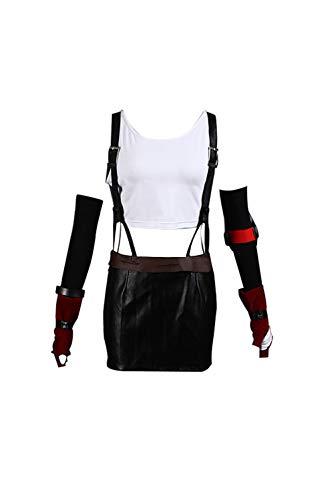 Mtxc Women's Final Fantasy VII Cosplay Costume Tifa Lockhart 2nd Size Large Black