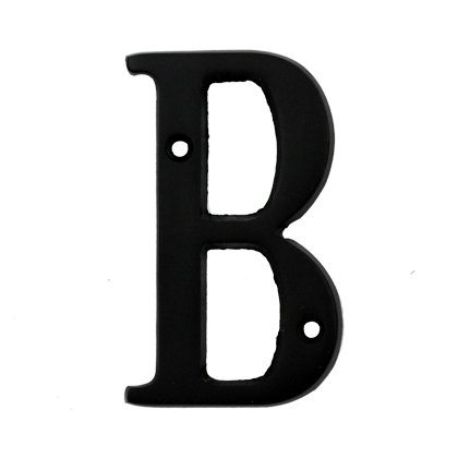 Bolton Hardware Letter 3 Inch Solid Brass Dark Oil Rubbed Bronze Finish House Letter Raised 3/16