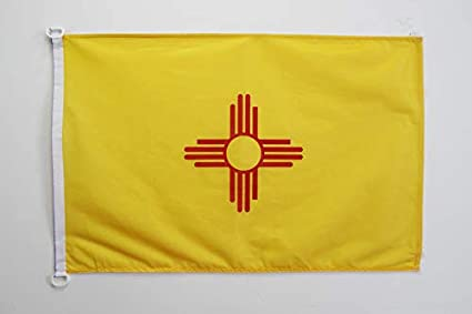 Az Flag New Mexico Flag 2 X 3 For Outdoor Us State Of Nouveau Mexique Flags 90 X 60 Cm Banner 2x3 Ft Knitted Polyester With Rings Garden Outdoor