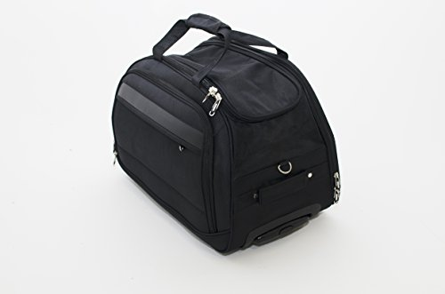 Business Laptop Computer Travel Bag Case Wheeled Luggage Briefcase (Black)