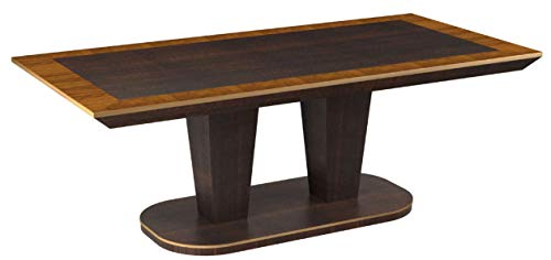 Bombay Cicero Pecan Wood Finish Dining Table, 6.5 Ft