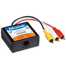 Muxlab 500048 Stereo AV/IR Pass-Thru Balun (Male RCA) ()