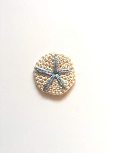 Crochet Sand Dollar Applique Craft Supply from Penguin Yarns