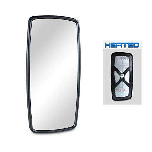 (Optix 1pc P.RA - 2003-2017 Freightliner M2 Heated Main Mirror Glass - 2003-2006 Freightliner Columbia Side View Mirror Replacement Heated )