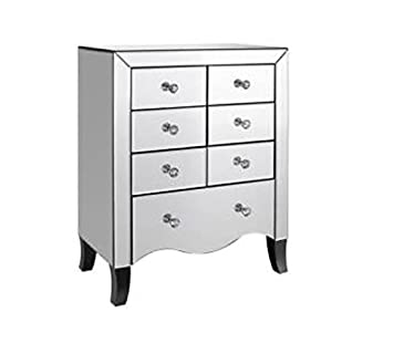 online store 82d37 5dd1c DOWNTON INTERIORS Vintage Style Silver Mirrored Chest of ...