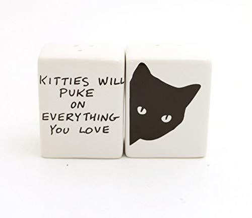 (Kitties Will Puke on Everything Salt and Pepper Shakers)
