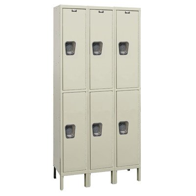 Maintenance-Free Quiet HALLOWELL Lockers - Putty