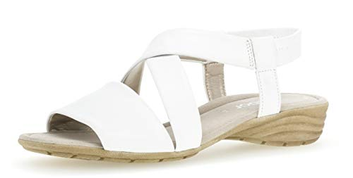 550 Fitting zapatos Del Gabor best sandalias plana Cuña Cuña 24 Mujer cómodo Verano übergrößen sandalias Weiss sandalias De 5Z4xfqZSw