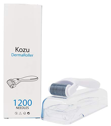 Derma Roller Micro Needle kit for face, body and skin care | 1200 Titanium pins, 0.25mm | Includes Storage case and Instructions (Dermabrasion Roller)
