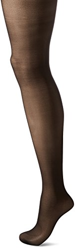 HUE Women's Made to Move Sheer Shaping Tights, Black, 2