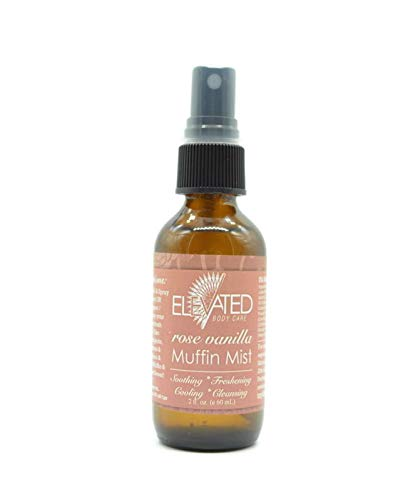 Elevated (by Taylor's) Muffin Mist - All Natural Feminine Spray - Soothing, Freshening, Cooling - Made in USA! ... (Rose Vanilla)