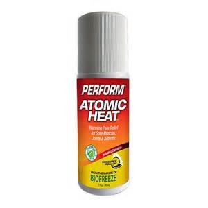 Perform Atomic Heat Roll-on, Warming Pain Relieving Cream, 3oz (2 Pack)