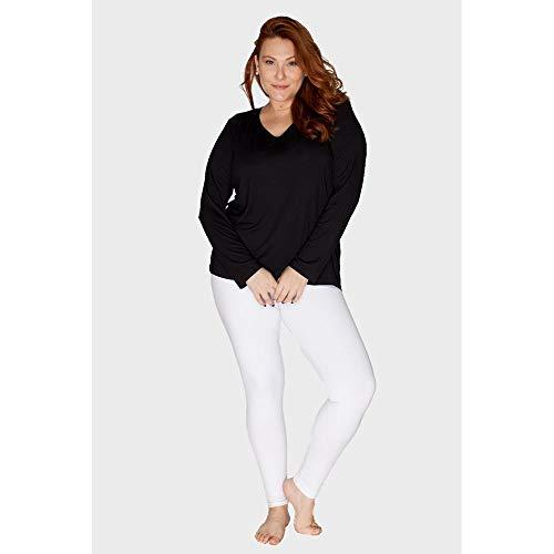 Legging Plus Size Branco-44/46
