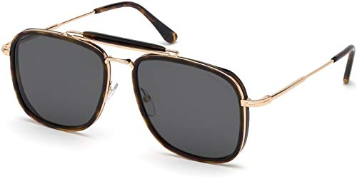 (Tom Ford FT0665 Havana/Gray Lens Sunglasses)