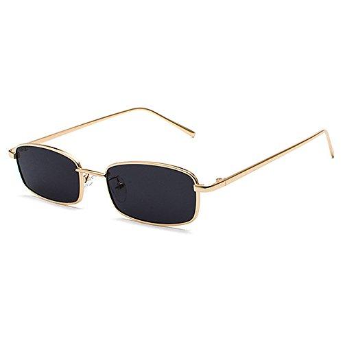 Goggles Men Anti Glasses Vintage Black Retro Style Unique Sunglasses Catwalk UV Fashion Small Metal Sun FwqwO5T