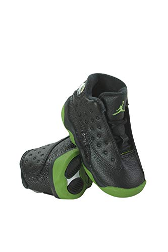 4644490246e7f7 Nike 414581-042 Kids Toddler Jordan 13 Retro BT Jordan Black Altitude Green-